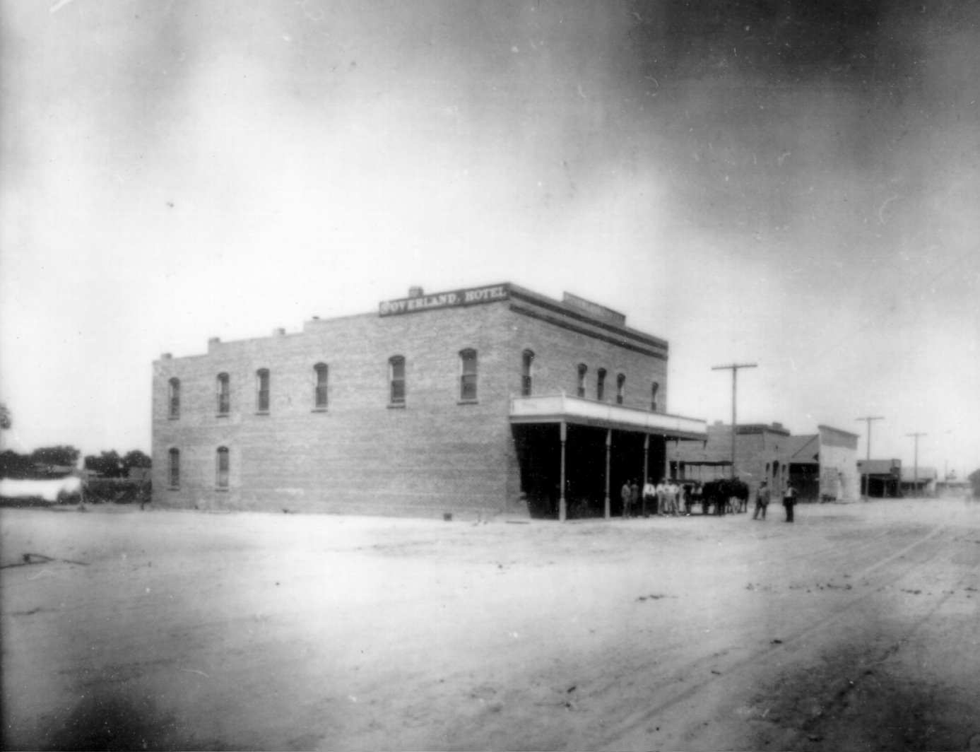 Overland Hotel in early 20th century.