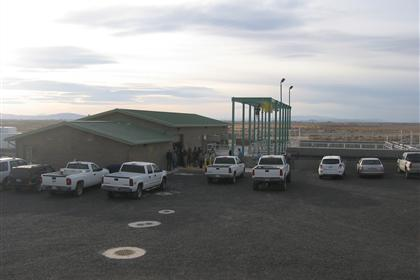 Exterior view of wastewater facility