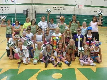 Volleyball Team Group Photo in Costume