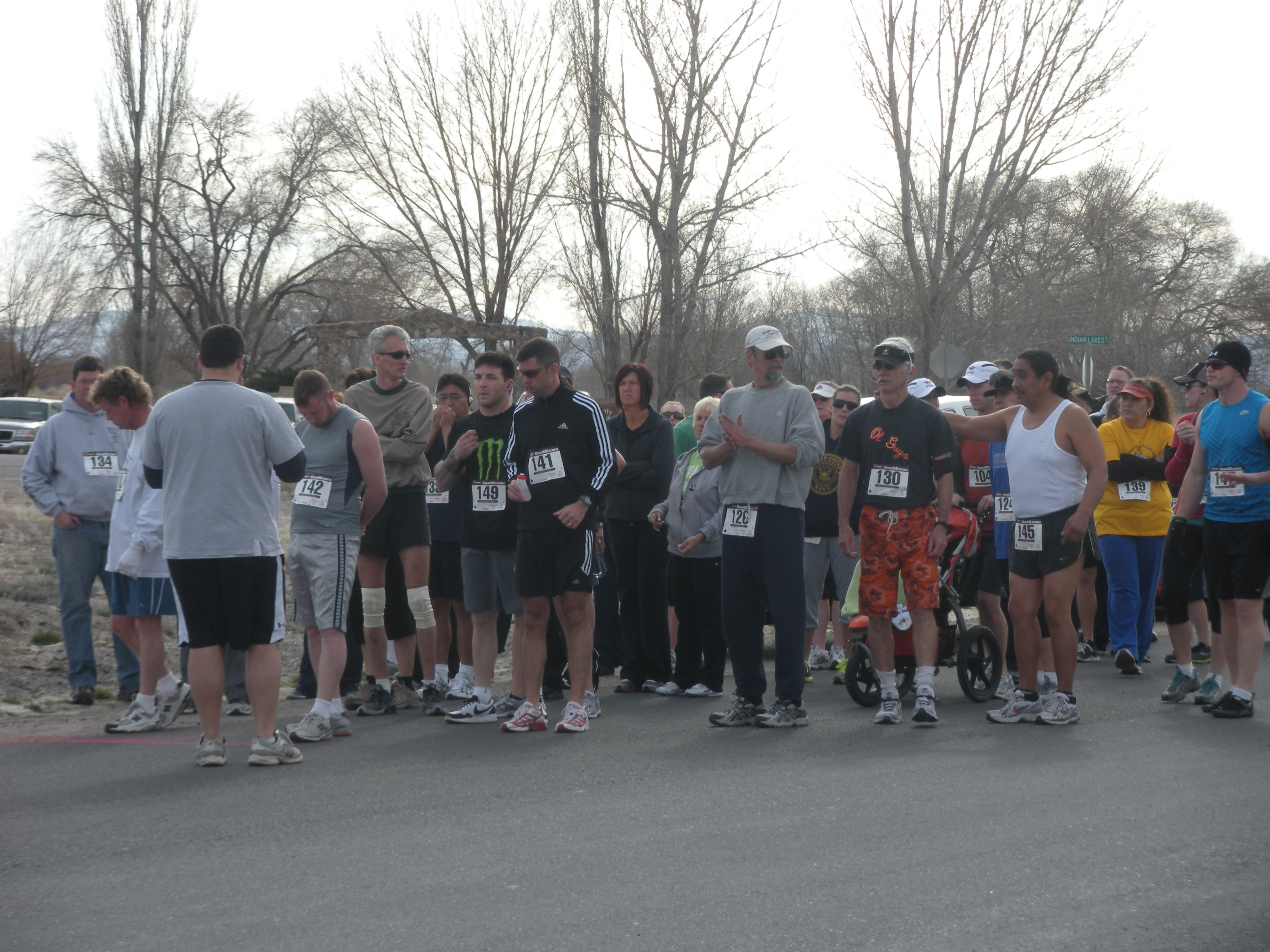 People at Starting Line for 5K